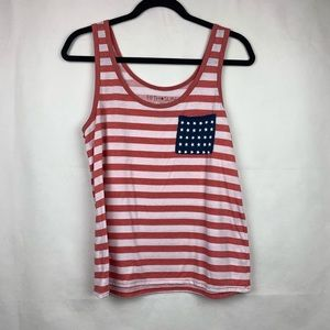 Fifth Sun red and white striped tank top